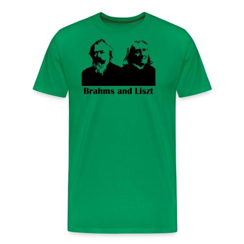 Brahms and Liszt - Men's Premium T-Shirt