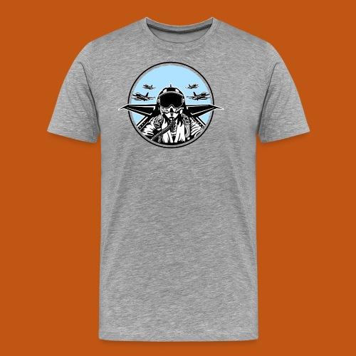 Jet Pilot / Kampfpilot 01_weiß Schwarz - Männer Premium T-Shirt