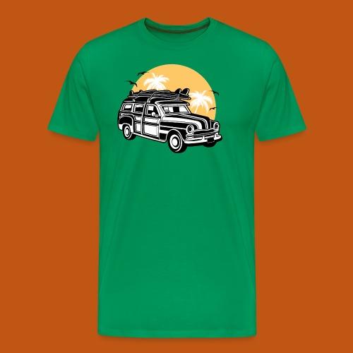Chevy Cadilac Woodie / Oldtimer Kombi 01_3c - Männer Premium T-Shirt