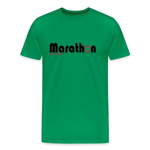 I love marathons - Männer Premium T-Shirt