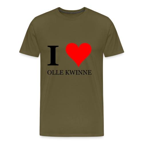 I love olle kwinne oude wijven MILF - Mannen Premium T-shirt