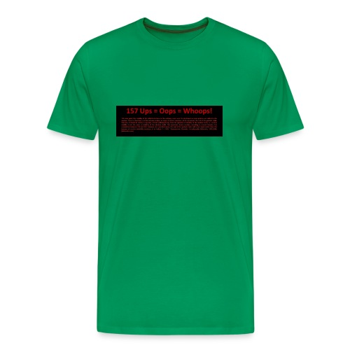 Ups survived back - Männer Premium T-Shirt