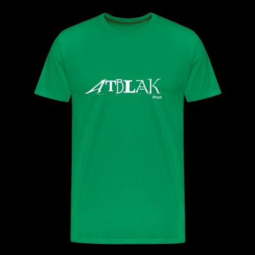 ATBLAK blanc grand - T-shirt Premium Homme