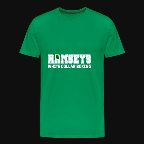 Ramseys White Collar Boxing White Logo - Men's Premium T-Shirt