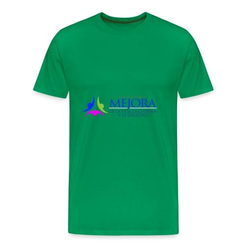 Logo Colorido Alargado - Camiseta premium hombre