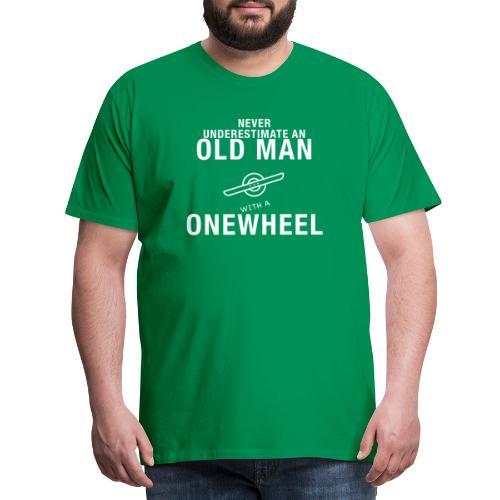 Old Man with an Onewheel - Herre premium T-shirt