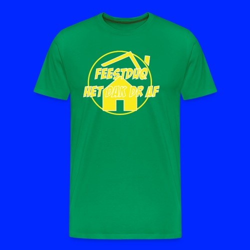 Geel Logo - Mannen Premium T-shirt
