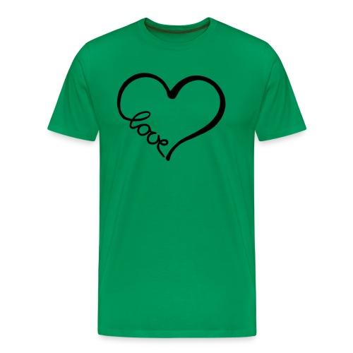 love heart 2 - Men's Premium T-Shirt