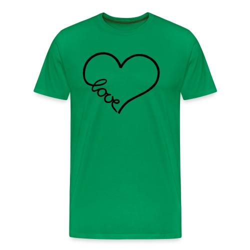 love heart 1 - Men's Premium T-Shirt
