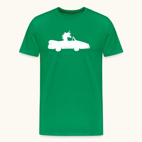 Cadeau de permis de conduire drôle de voiture de la Licorne convertible - T-shirt Premium Homme