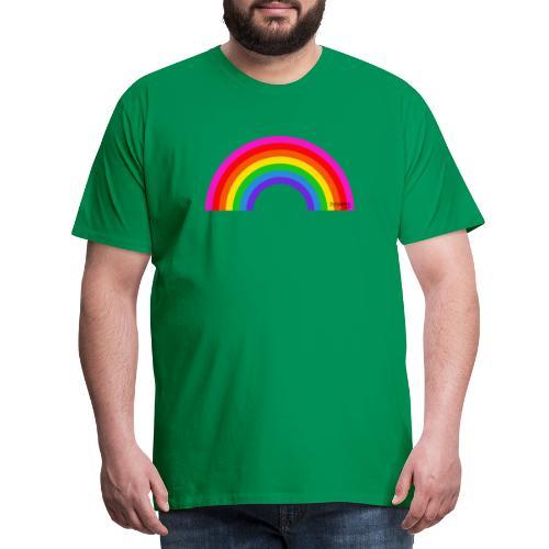Rainbow - Miesten premium t-paita