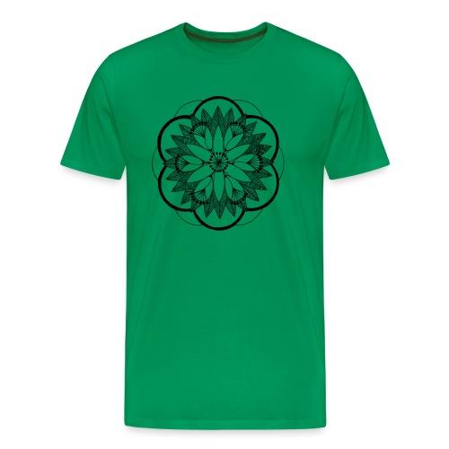 Pond Bouquet Mandala - Men's Premium T-Shirt