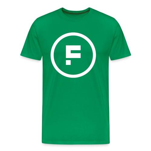 Logo Rond Wit Fotoclub - Mannen Premium T-shirt