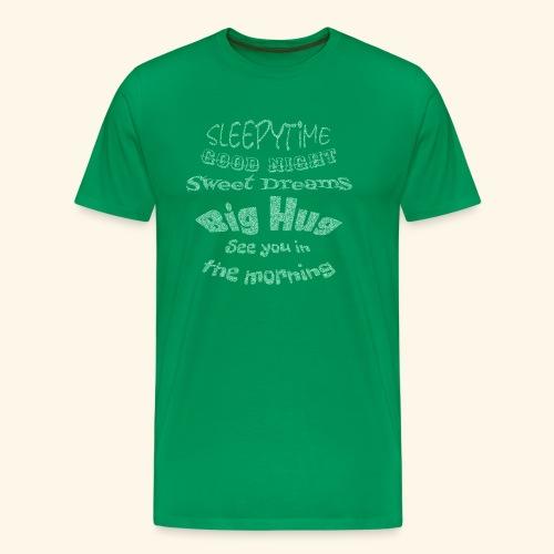 SleepyTime in soft green - Mannen Premium T-shirt