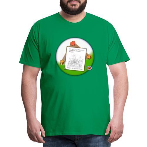 Petrus trifft Jesus - zu viele Fische ! - Männer Premium T-Shirt