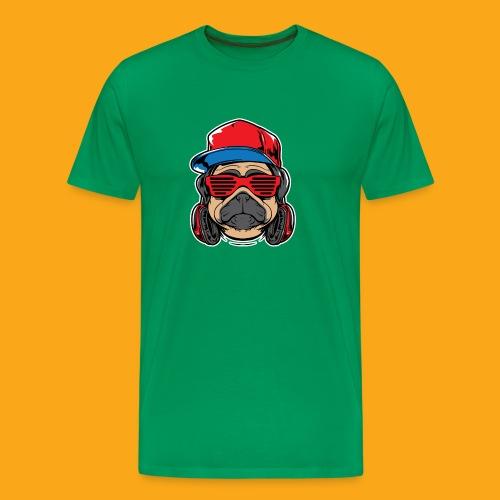 Pug the DJ - Männer Premium T-Shirt