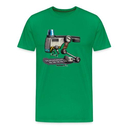 The F.L.O.W.E.R. Robot! - Herre premium T-shirt