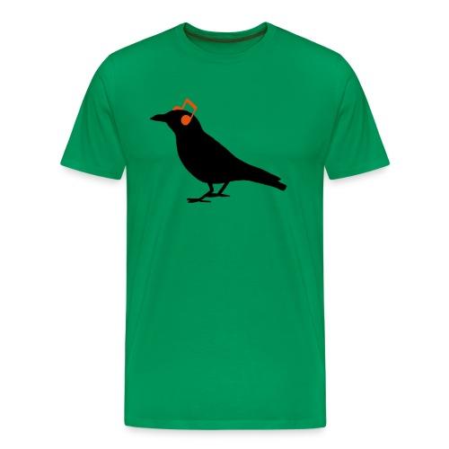 Headphones Kopfhörer Noten Rabe Bird Hipster - Männer Premium T-Shirt