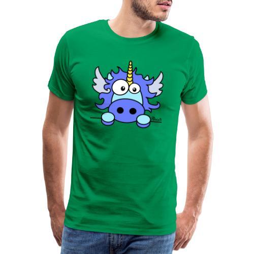 Licorne Bleu, Poney - T-shirt Premium Homme