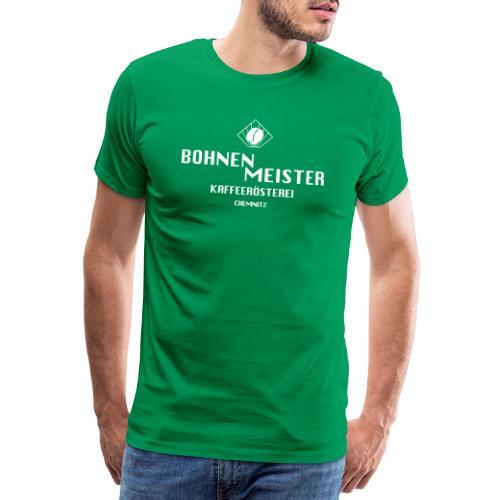 bohnenmeister logo weiss - Männer Premium T-Shirt