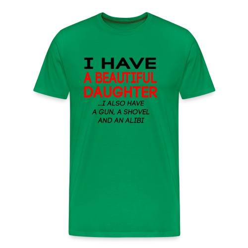 beautiful_daughter - Premium T-skjorte for menn