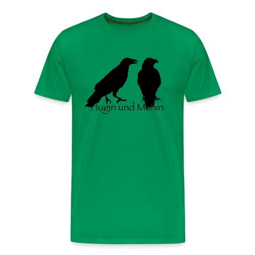 Hugin und Munin - Männer Premium T-Shirt
