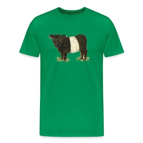 Beltie Belted Galloway Cow - Men's Premium T-Shirt