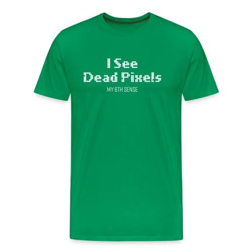 ISeeDeadPixels_White - Mannen Premium T-shirt