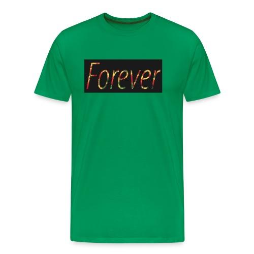 Forever Clothing Black Flowers T-shirt Men - Mannen Premium T-shirt