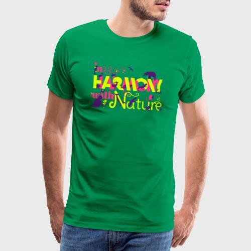 In Harmony With Nature - Men's Premium T-Shirt