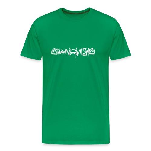 Shawn Stein Logo weiß / QR - Männer Premium T-Shirt