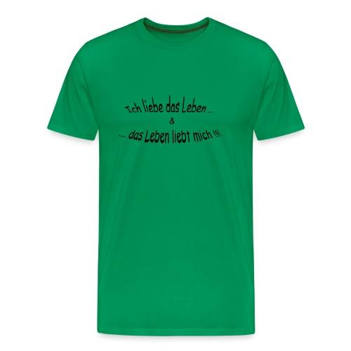 Ich-liebe-das-Leben - Männer Premium T-Shirt