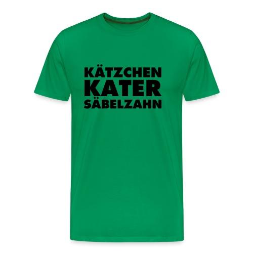 KÄTZCHEN KATER SÄBELZAHN - Männer Premium T-Shirt