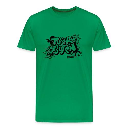 push the button comic style - Men's Premium T-Shirt