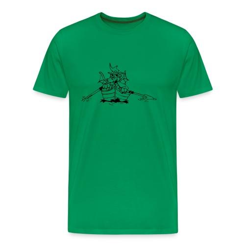 rudernder drache - Männer Premium T-Shirt