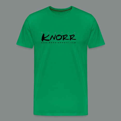 DennisKnorr_Log_sw - Männer Premium T-Shirt