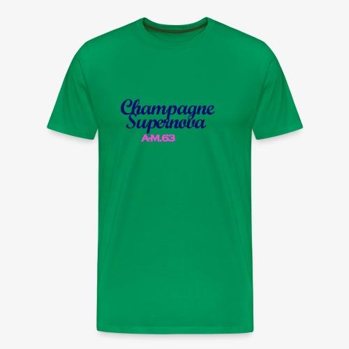 Champagne Supernova blau - Männer Premium T-Shirt