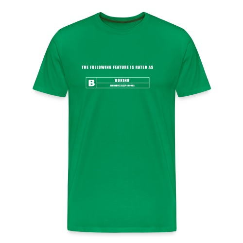 BORING GREEN SCREEN - Men's Premium T-Shirt