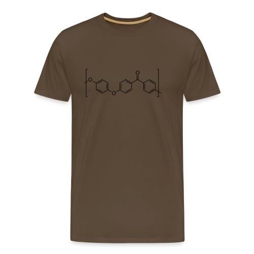 Polyetheretherketone (PEEK) molecule. - Men's Premium T-Shirt