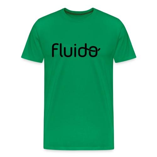 fluidologo_musta - Miesten premium t-paita