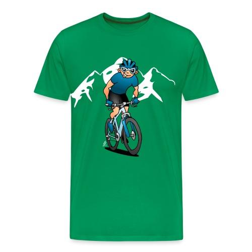 MTB - Mountain biker in the mountains - Men's Premium T-Shirt
