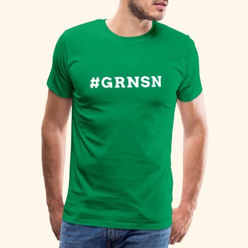 Hashtag #GRNSN 2-seitig - Männer Premium T-Shirt