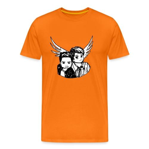 Destiel i sort/hvid - Herre premium T-shirt