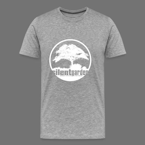 hiljainen puutarha (valkoinen) - Miesten premium t-paita