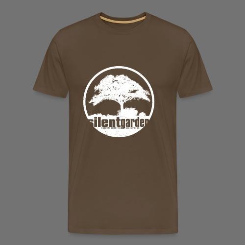 hiljainen puutarha (valkoinen oldstyle) - Miesten premium t-paita