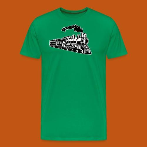 Lokomotive / Locomotive 02_schwarz weiß - Männer Premium T-Shirt