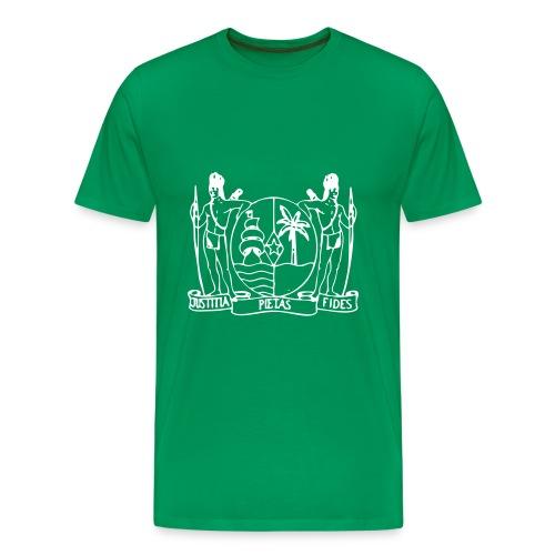 suriname wapen2 - Mannen Premium T-shirt