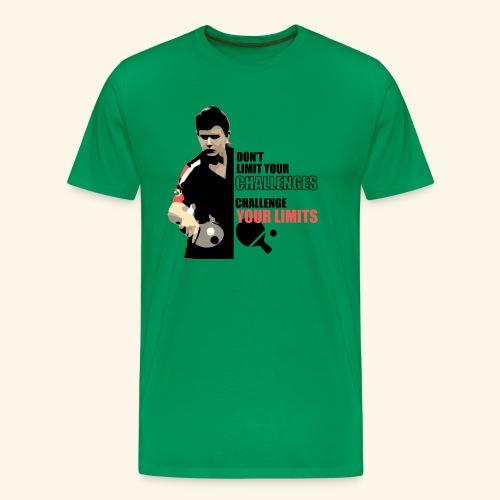 Don't limit your challenge, challenge your limit - Männer Premium T-Shirt