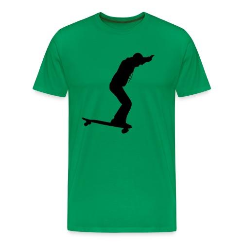 Longboarder Skate in Action - Männer Premium T-Shirt