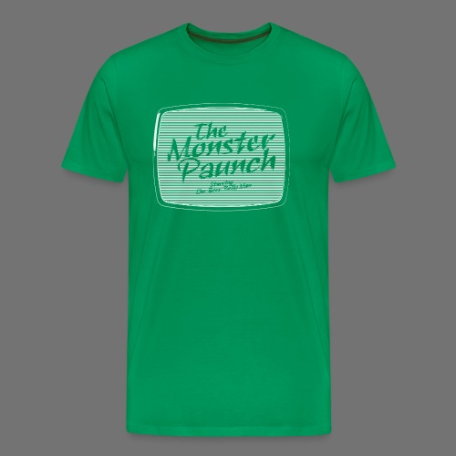 Monster Paunch (valkoinen) - Miesten premium t-paita